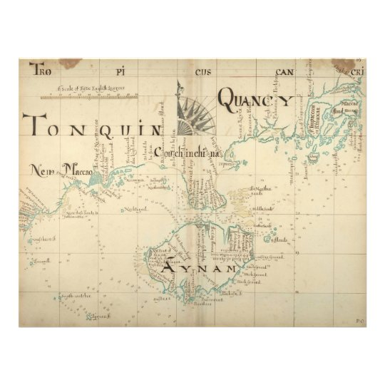 An Authentic 1690 Pirate Map 21.5 Cm X 28 Cm Flyer