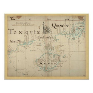 An Authentic 1690 Pirate Map Poster