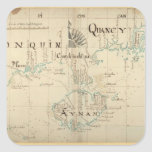 An Authentic 1690 Pirate Map Square Sticker