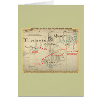 An Authentic 1690 Pirate Map (with embellishments) Card