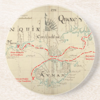 An Authentic 1690 Pirate Map (with embellishments) Coaster