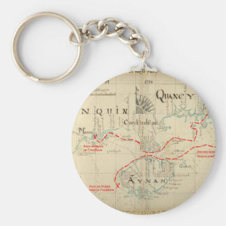 An Authentic 1690 Pirate Map (with embellishments) Key Ring