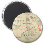An Authentic 1690 Pirate Map (with embellishments) 6 Cm Round Magnet
