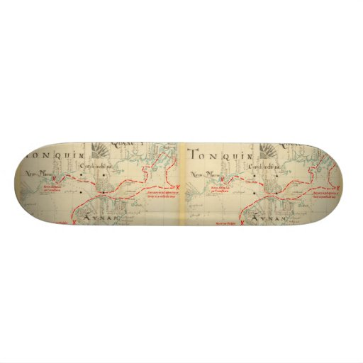 An Authentic 1690 Pirate Map (with embellishments) Custom Skate Board