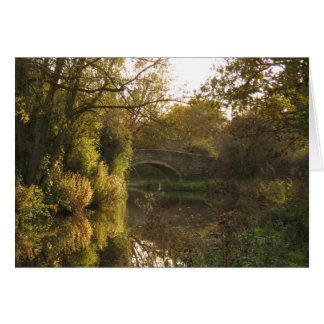 An Autumn Evening on the Oxford Canal. Card