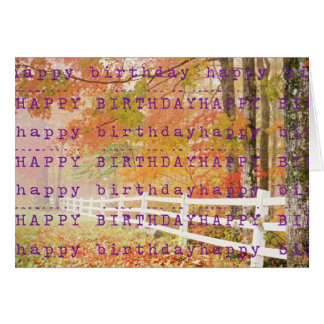 An Autumn Happy Birthday! Greeting Card