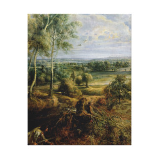 An Autumn Landscape with a view of Het Steen Canvas Print