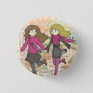 An Autumn Walk 3 Cm Round Badge