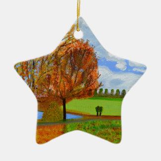 An Autumn Walk Ceramic Star Decoration