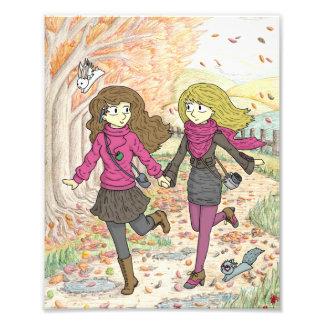 An Autumn Walk Photo Print