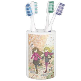 An Autumn Walk Soap Dispenser And Toothbrush Holder