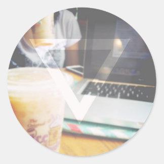 An Average Day in a Coffee Shop Round Sticker