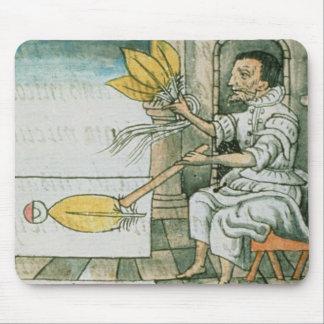 An Aztec feather artisan Mouse Mat