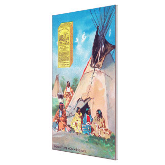 An Crow Indian Tepee, Maizena Product Ad Canvas Print