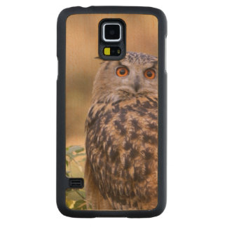 An Eagle Owl Carved Maple Galaxy S5 Case