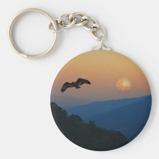 An eagles ascent basic round button key ring