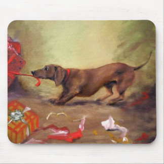 An Early Christmas - or Bad Dachshund Dog :) Mouse Mat