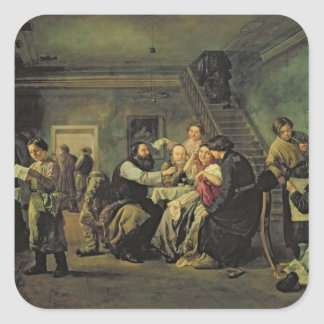 An Eating House, 1859 Square Sticker