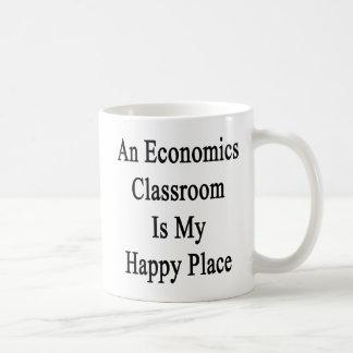 An Economics Classroom Is My Happy Place Basic White Mug