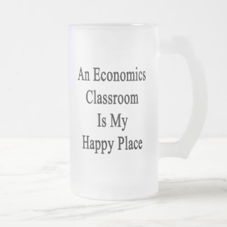An Economics Classroom Is My Happy Place Frosted Glass Mug