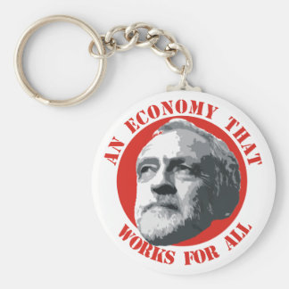 An Economy That Works For All Basic Round Button Key Ring