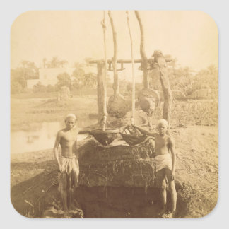 An Egyptian Irrigation Machine on the Banks of the Square Sticker