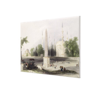 An Egyptian obelisk in the Atmeidan, or Hippodrome Canvas Print