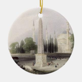 An Egyptian obelisk in the Atmeidan, or Hippodrome Christmas Ornament