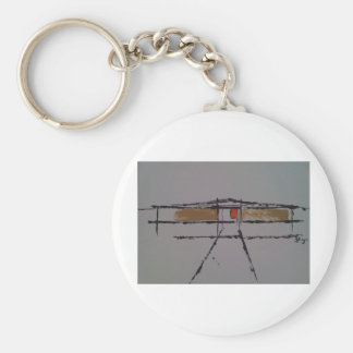 An Eichler home on a T-shirt #2 Key Ring