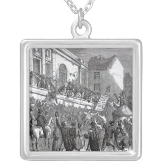 An Election Scene at Kilkenny Silver Plated Necklace