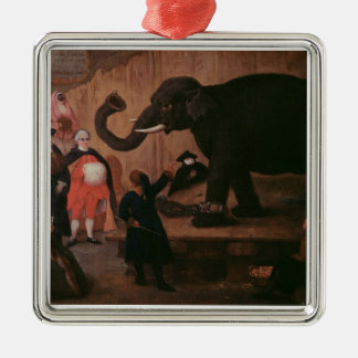 An Elephant Shown in Venice (oil on canvas) Christmas Ornament