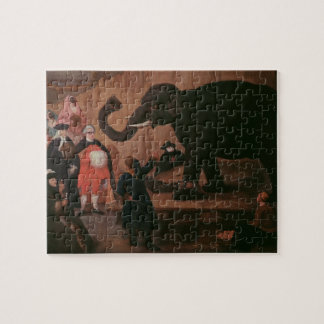 An Elephant Shown in Venice (oil on canvas) Jigsaw Puzzle