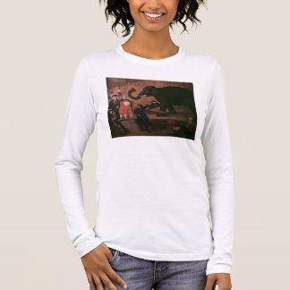 An Elephant Shown in Venice (oil on canvas) Long Sleeve T-Shirt