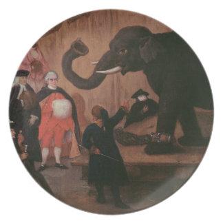 An Elephant Shown in Venice (oil on canvas) Plates