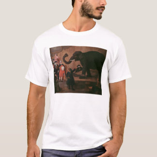 An Elephant Shown in Venice (oil on canvas) T-Shirt
