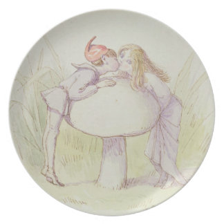 An Elf and a Fairy Party Plate