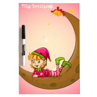 An elf and a moon Dry-Erase boards