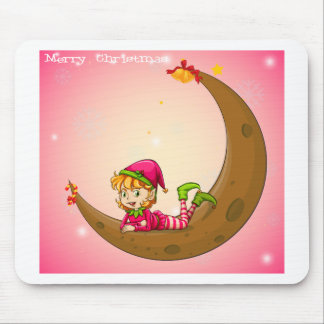 An elf and a moon mouse pad