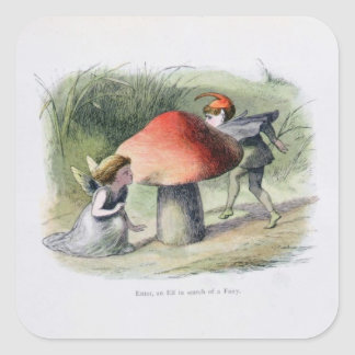 An Elf in Search of a Fairy, illustration from 'In Square Sticker
