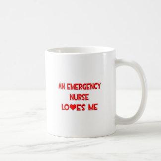 An Emergency Nurse Loves Me Mugs
