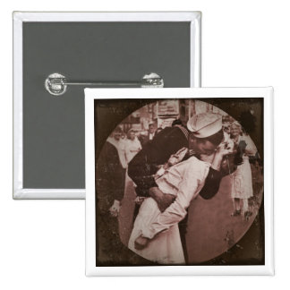 An End of War Kiss 15 Cm Square Badge