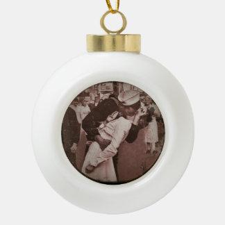 An End of War Kiss Ceramic Ball Decoration