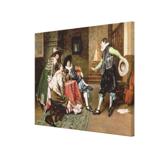 An Engaging Tale, 1894 (oil on panel) Canvas Print