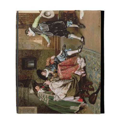 An Engaging Tale, 1894 (oil on panel) iPad Cases