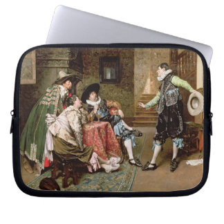 An Engaging Tale, 1894 (oil on panel) Computer Sleeve