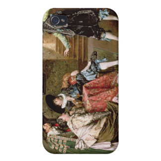 An Engaging Tale, 1894 (oil on panel) Covers For iPhone 4