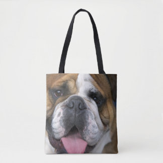 An english bulldog in Belgium Tote Bag