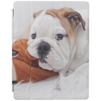 An English Bulldog Puppy Playing With A Bulldog iPad Cover