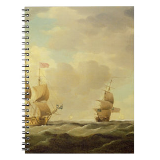 An English Flagship Under Easy Sail in a Moderate Spiral Notebooks