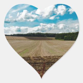 An English Sky Heart Sticker